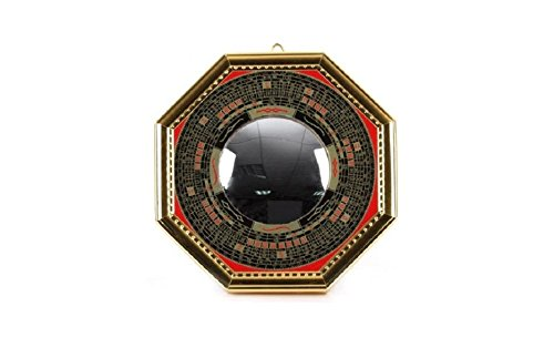 Bagua Luo board convex mirror š ( gold ) ( large ) [ Feng - luck Goods / entrance / Figurines , decorations , mirror / luck ]