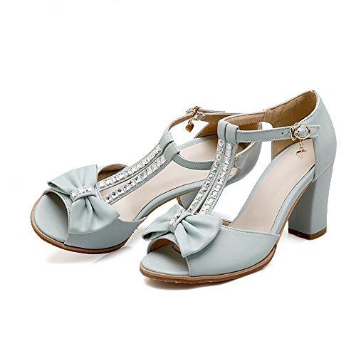 Sandalen Womens Polyurethan Blau Adee Bows Solid n6qSp8