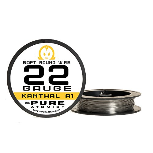 Pure Atomist PA.KA1-22GA50 Kanthal A1 22 AWG Gauge Resistance Wire 50' Roll, 22g (24 G Kanthal Wire)