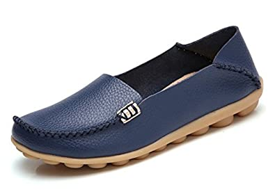 a36f9796423 Image Unavailable. Image not available for. Colour  VenusCelia Women s  Natural Comfort Walking Flat Loafer(11 ...