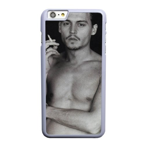 Coque,Apple Coque iphone 6 6S plus (5.5 pouce) Case Coque, Generic Johnny Depp Cover Case Cover for Coque iphone 6 6S plus (5.5 pouce) blanc Hard Plastic Phone Case Cover