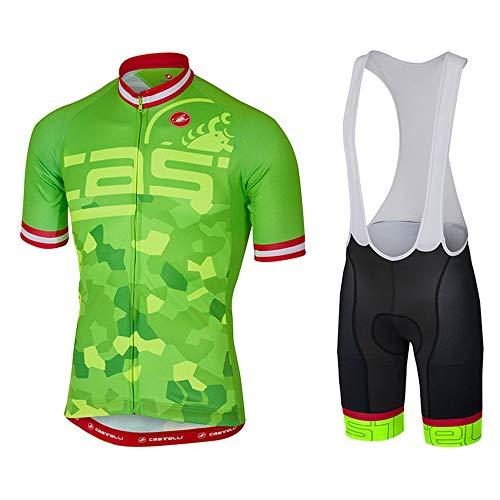 Guerbrilla 2017 Trek Team Men's Short Sleeve Cycling Jersey and Bib Shorts Set (melidum)