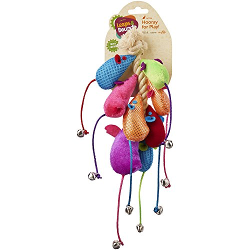 Leaps & Bounds Mice Cat Toys on a Rope, Pack of 8 Toys, Assorted