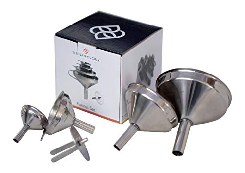 4 Pc. Stainless Steel Funnel Set -