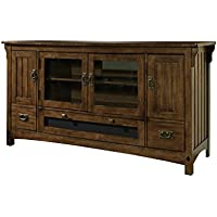 Somerton Dwelling 417-29 Craftsman TV Console, Deep Brown