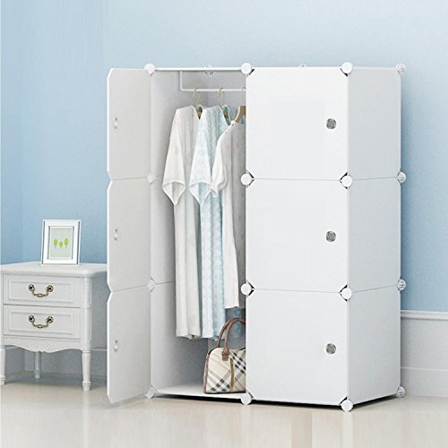 evokem Portable Closet Wardrobe Bedroom Armoire Storage Organizer Clothes Closet (Type1) by evokem