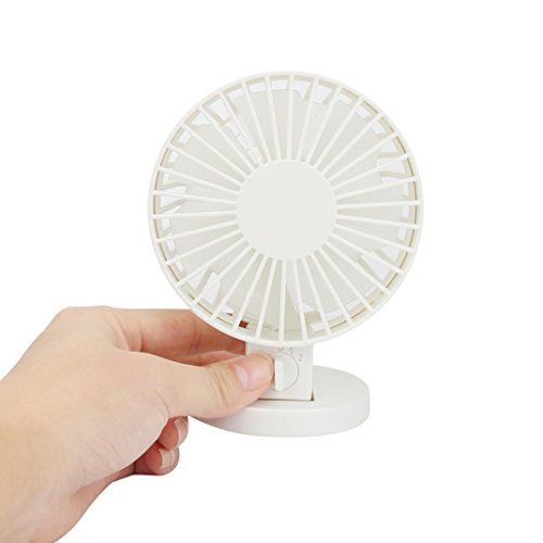 Gillberry Summer Portable Mini Air Conditioner Cooler Fan USB (White)