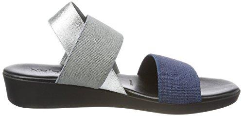 Nr Rapisardi Damen Mambo Slingback Sandalen Blau (blu / Grigio / Argento)