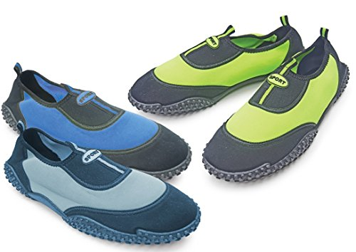Mens Royal Deluxe Navy & Black Aqua Shoes Verde Neon
