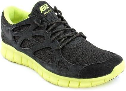 new concept aa4ec 8f3f6 Nike Mens Free Run 2 Woven Black Volt 555442-007 Black/Black ...