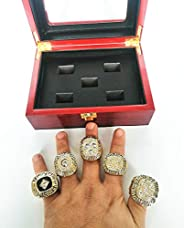 5 time Champions Rings 99 Gretzky and Championship Ring 1990 Messier Gifts for Mens Boys Kids Youth