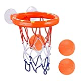AZDENT Bathtub Basketball Hoop and 3 Balls for Kids Suction Baby Bath Toys