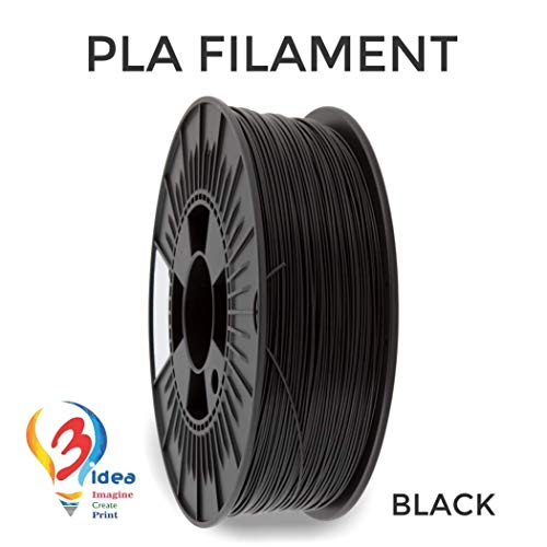 3IDEA 1.75 mm PLA 3D Printer and 3D Pen Filament (1 kg Spool, Black)