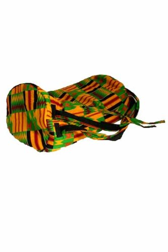 African Kente Cloth Djembe Drum Bag - Mini 9''x18''