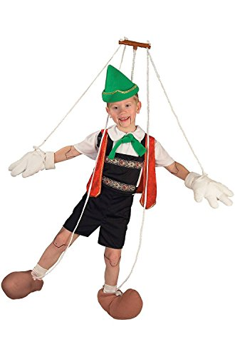 Marionette Puppet Costumes (Pinocchio Puppet Child Costume - Large)