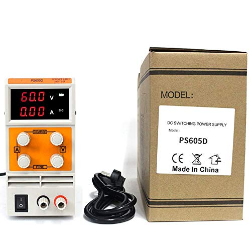 Color: PS605DM Utini EU Plug DC Regulated Power Supply PS605D//PS605DM 0-60V 0-5A Mini DC Power Supply Digital Variable Adjustable Power Supply