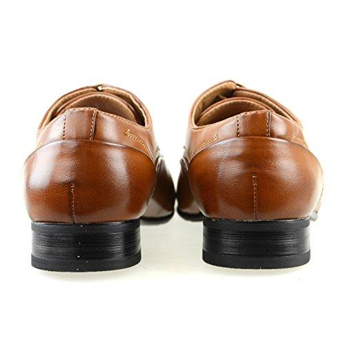 Mm / One Mens Oxford Plain Toe Lace-up Laag Uitgesneden Laag Zwart Bruin Bruin