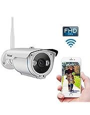 Caméra Surveillance WiFi Extérieure HD 1080P 2,0 Mégapixels, Caméra de Sécurité avec Enregistrement, Vision Nocturne Infrarouge et Détection de Mouvement (Etanche IP66) 【Nouvelle Version】