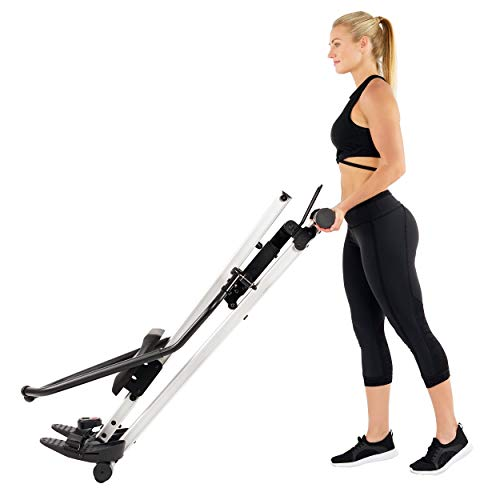 Sunny Health & Fitness Incline Full Motion Rowing Machine Rower with 350 lb Weight Capacity and LCD Monitor by Sunny Health & Fitness (Image #8)