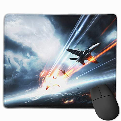 Non-Slip Rubber Base Mousepad for Laptop Computer PC Personality Designs Gaming Mouse Pad Mat (Dog Fight Over Battlefield Illustration, 11.81 X 9.84 Inch) ()