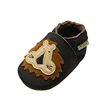 Sayoyo Baby Lion Soft Sole Brown Leather Infant and Toddler Shoes