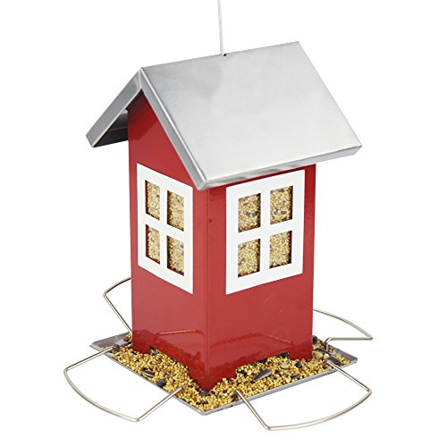 B&P Metal Bird Feeder Wild Bird (Red) by Beaks And Paws