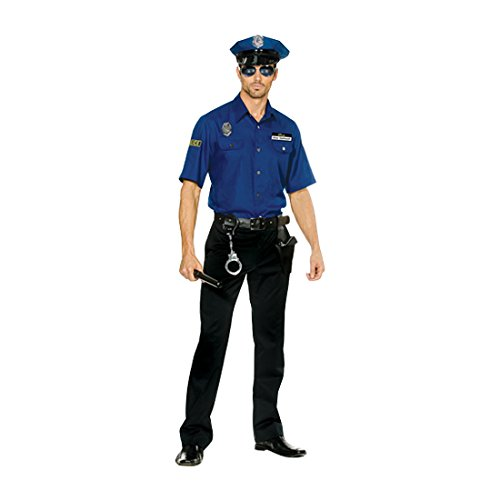 Dreamgirl Men's You're Busted Cop Costume, Blue, (Men Cop Costumes)