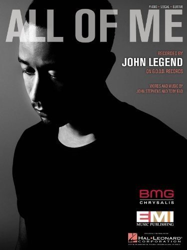 John Legend - All Of Me - Sheet Music Single (All Of Me Piano Sheet Music compare prices)