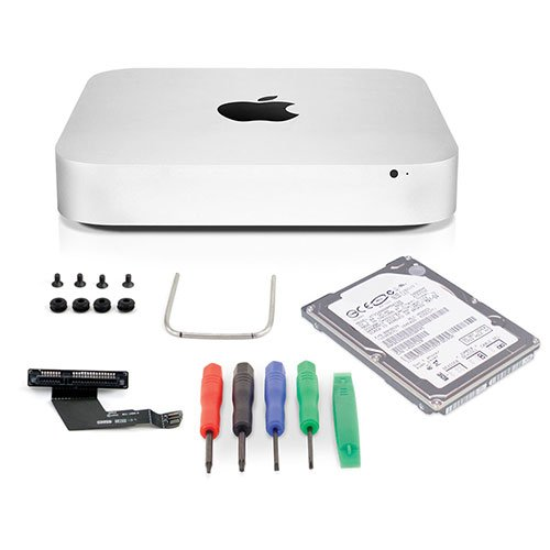 OWC 1.0TB Hybrid Hard Drive Upgrade Kit For 2011-2012 Mac mini, 1.0TB Western Digital Hybrid SSD/HDD, DataDoubler, Install tools by OWC