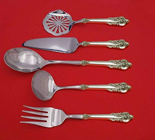 - Grand Baroque by Wallace Sterling Silver Thanksgiving Serving Set 5pc Custom