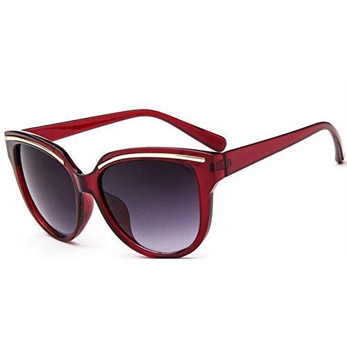 Mujeres moda Sun de marca estilo sol Eye Classic Glasses Verde la de Gafas Gold GGSSYY Vintage Mirror con Señora Rose Retro de Diseñador Pink TqOxHY4