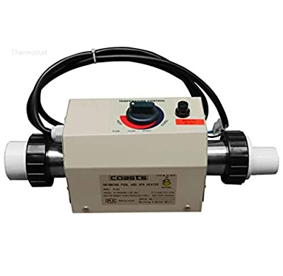 TOPCHANCES 3KW Electric Swimming Pool Heater Water Thermostat SPA Bath Heater Intelligent Constant Temperature for Swimming Pool and SPA -220V 50HZ