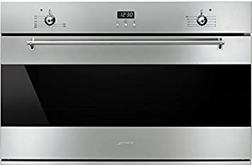 Smeg SF9370GX Gas natural 105L A Acero inoxidable - Horno (Grande, Gas natural,