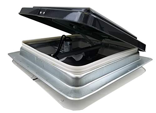 "HENG'S 14"" RV CAMPER TRAILER UNIVERSAL SMOKE LID ROOF VENT WITH 12 VOLT FAN 74112- C"