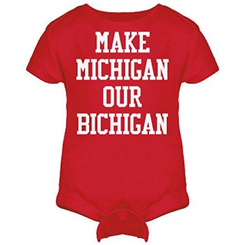 Michigan Bichigan Baby: Infant Rabbit Skins Lap Shoulder Creeper
