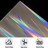 TeeArtist Holographic Rainbow Silver Metallic Iron