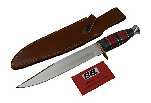 "Rogue River Tactical Hunting Knives The King Snake 10"" Fixed Blade Bowie Knife (13 INch)"