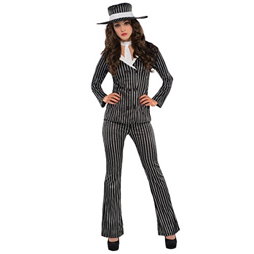 AMSCAN Mob Wife Halloween Costume for Women, Extra Large, with Included Accessories -