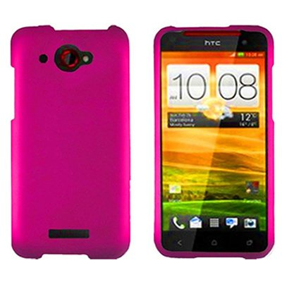 HTC Droid DNA Case, CoverON® [Snap Fit Series] Hard Rubberized Slim Protective Phone Cover Case for HTC Droid DNA - Hot (Cover Htc Droid Dna 6435)