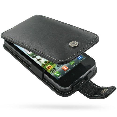 P970 Case Cover (PDair Black Leather Flip Cover Carry Case + belt clip for LG Optimus Black P970)