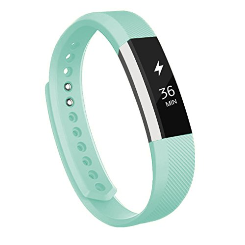 Wishesport Fitbit Alta Bands Fitbit Alta HR Bands Replacement Wristband Accessory Sport Bands Strap for Fitness S Teal