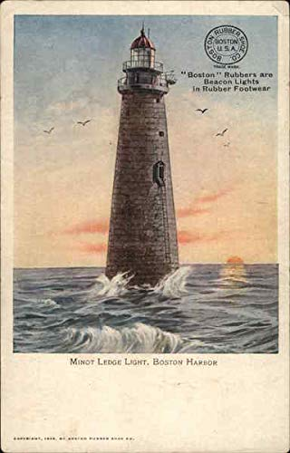 Minot Ledge Light, Boston Harbor Boston, Massachusetts Original Vintage Postcard