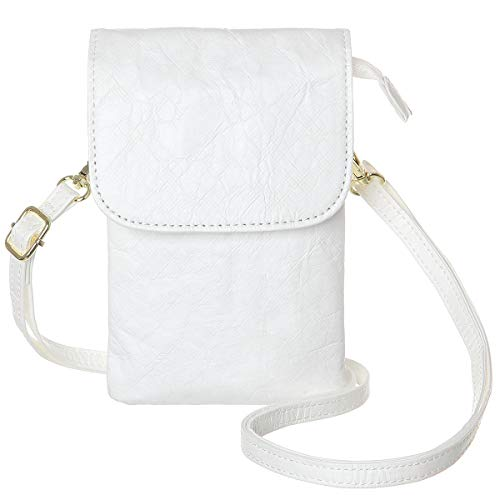 MINICAT Roomy Pockets Series Small Crossbody Bags Cell Phone Purse Wallet For Women (Kraft Paper-White) ()
