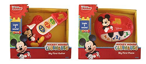 Disney Mickey Mouse My First Guitar and Piano Bundle