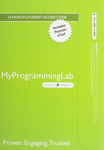 MyLab Programming with Pearson eText--Access Code Card--for Java: An Introduction to Problem Solving and Programming by Pearson
