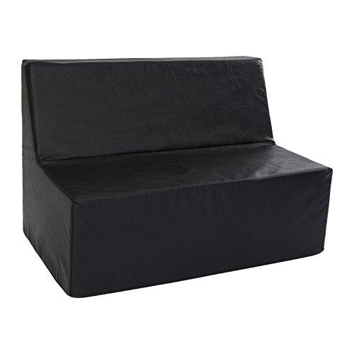 Foamnasium Straight Back Sofa Playset, Black by Foamnasium