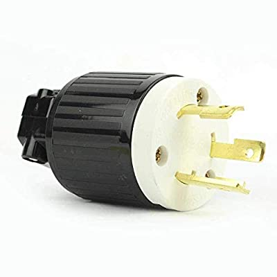 Superior Electric YGA024 Twist Lock Electrical Plug 3 Wire, 30 Amps, 125V, NEMA L5-30P