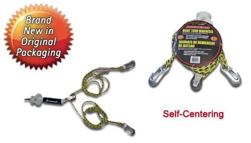 airhead self-centering tow harness for watersports - boat ... boat tow harness