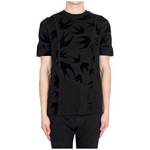 McQ Alexander McQueen Men's Short Sleeve t-Shirt Crew Neckline Jumper Swallow Black US Size XS (US XS) 519431RLJ701000