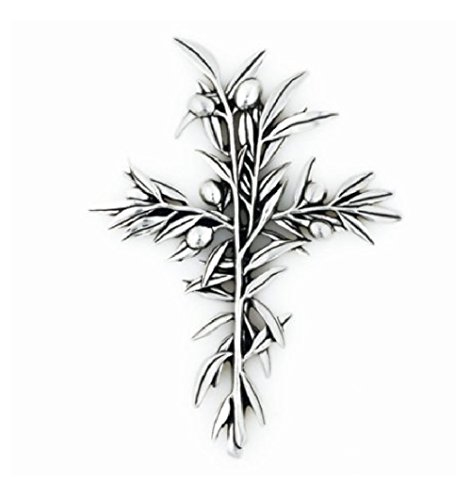 Small Olive Branch Wall Cross - Branch Mall Olive